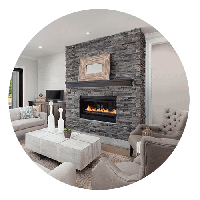 Built-In Gas Fireplaces