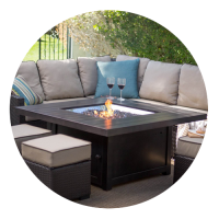 Square Fire Tables