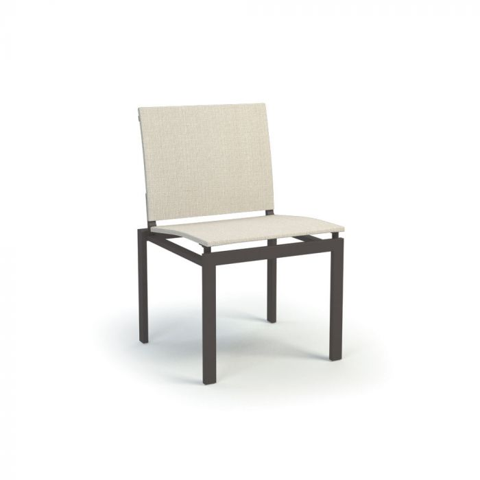 Homecrest Allure Aluminum Armless Dining Chair, 21.5x21-Inches