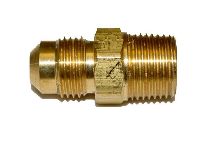 HPC Male Connector Brass Fitting, 3/8-Inch Tube, 3/8-Inch MIP