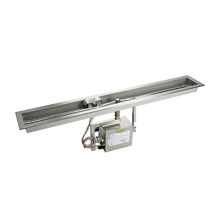 Hearth Products Controls Electronic Ignition Gas Fire Pit Kit, Linear Pan