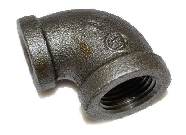 HPC Black Iron Reducing Elbow, 1/2-Inch to 3/8-Inch FPT