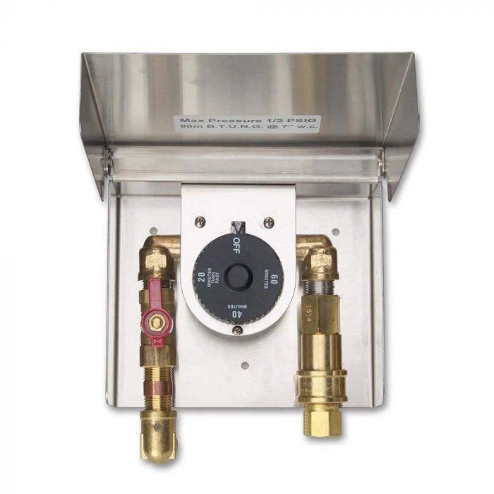 Fire Magic 5520-01T Gas Connection Box with Quick Disconnect and 1-Hour Timer