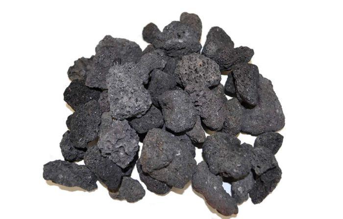 Hearth Products Controls Black Lava Rock, 1 Cubic Foot