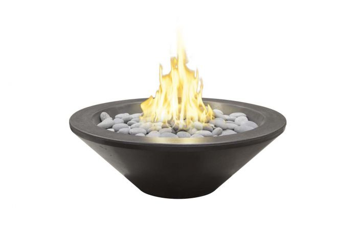 American Fyre Designs Cannes Petite Round Cone Fire Bowl, 30-Inch
