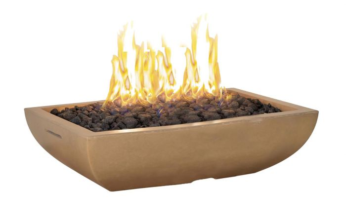 American Fyre Designs Bordeaux Rectangle Fire Bowl, 50x30-Inch