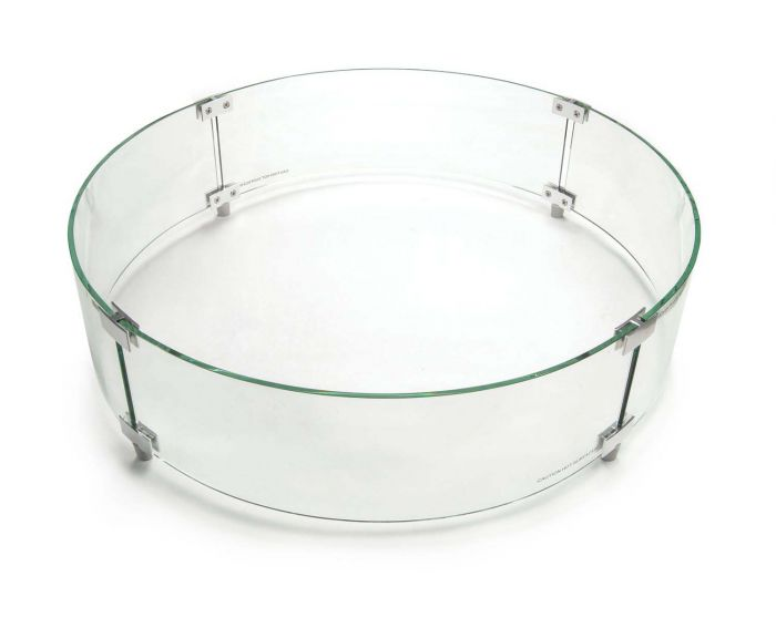 American Fyre Designs Round Glass Wind Guard, 26-Inches