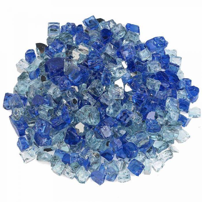 American Fireglass 10-Pound Premium Fire Glass, 1/2 Inch, Bora Bora Reflective