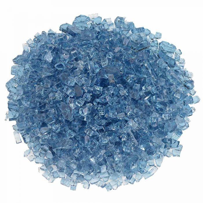 American Fireglass 10-Pound Classic Fire Glass, 1/4 Inch, Pacific Blue