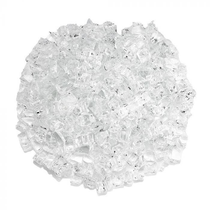 American Fireglass 10-Pound Classic Fire Glass, 1/2 Inch, Starfire