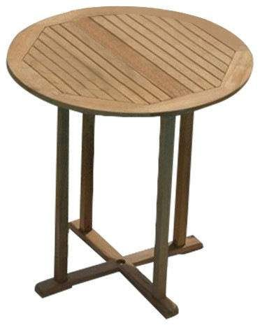 Royal Teak Collection BARTB Round Teak Bar Table