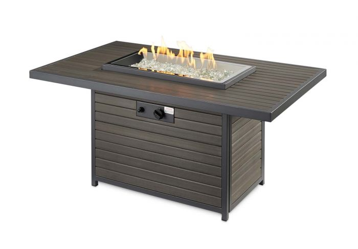 The Outdoor GreatRoom Company BRK-1224-19-K Brooks Gas Fire Pit Table, 30.75x50-Inches