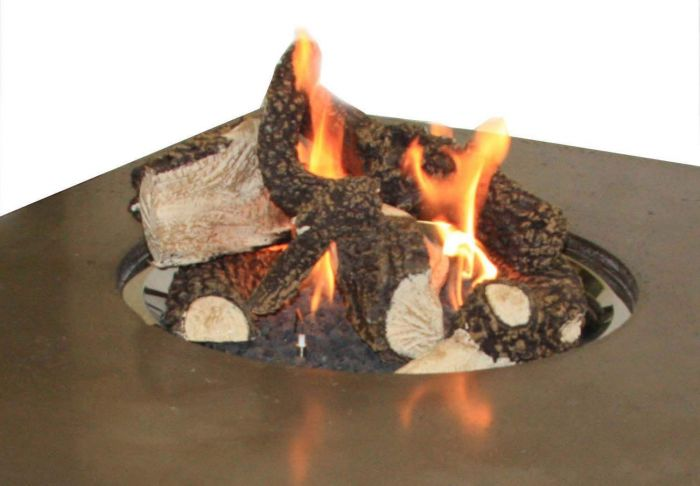 The Outdoor GreatRoom Company CF20-LOG-SET Log Set and Lava Rock for the CF-20-LP, CF-1224 or CF-2424, 18x18-Inches