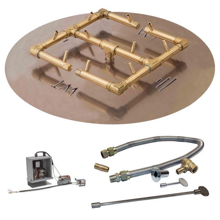 Crossfire by Warming Trends CFB-3VIK 3 Volt Electronic Spark Ignition Original Brass Gas Fire Pit Burner Kit