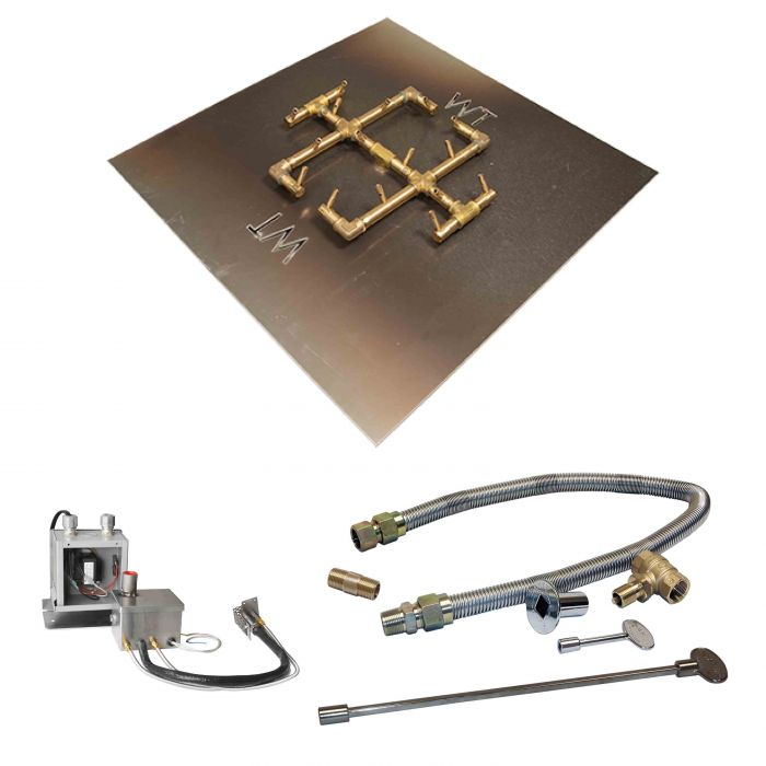 Crossfire by Warming Trends CFB-P24VIK 24 Volt Hot Surface Electronic Ignition Original Brass Gas Fire Pit Burner Kit