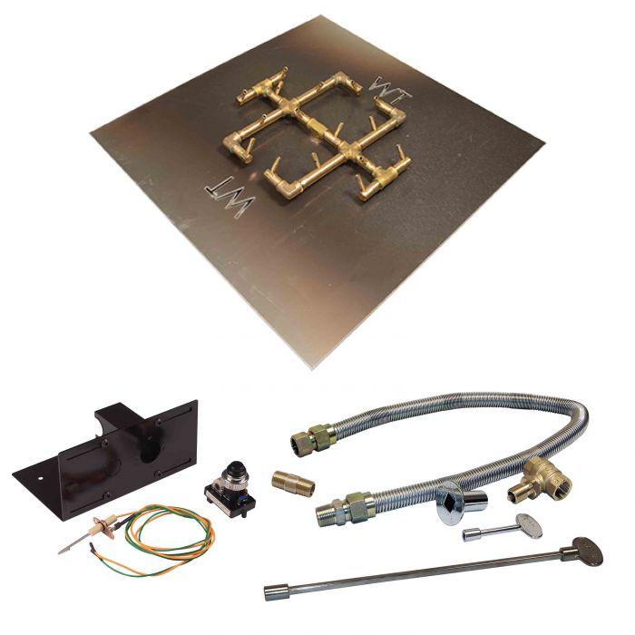 Warming Trends Crossfire Spark Ignition Original Brass Gas Fire Pit Burner Kits