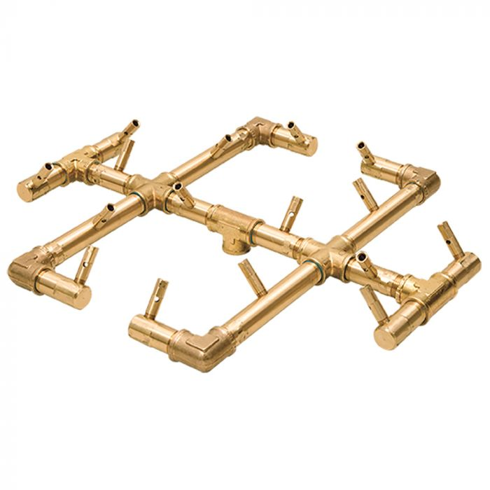 Warming Trends Crossfire Original Brass Gas Fire Pit Burners