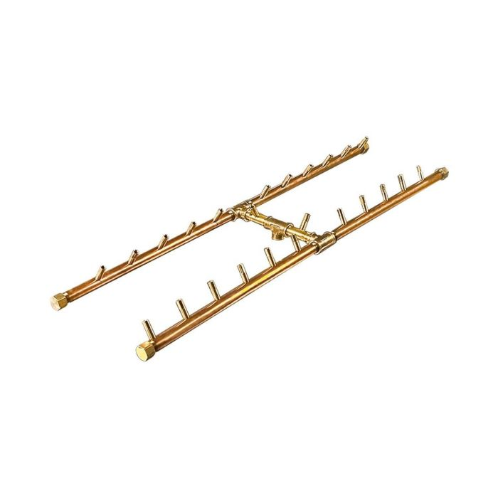 Warming Trends Crossfire H-Style Brass Gas Fire Pit Burners