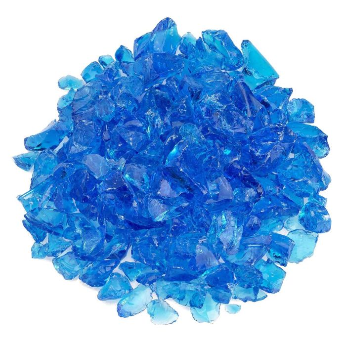 American Fireglass 10-Pound Recycled Fire Glass, 3/4 Inch, Turquoise