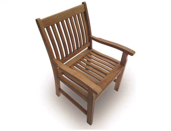 Royal Teak Collection COMAC Compass Teak Arm Chair