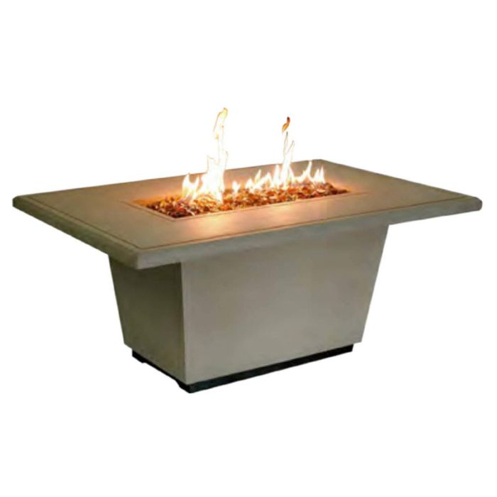 American Fire Designs Cosmopolitan Rectangle Chat Height Firetable