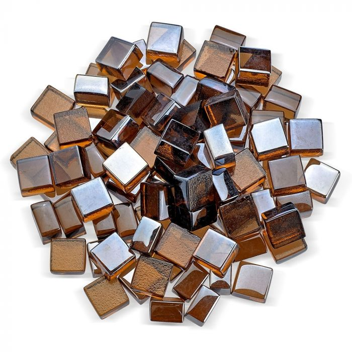 American Fire Glass 1/2-Inch Fireglass 2.0, 10-Pounds, Copper Luster