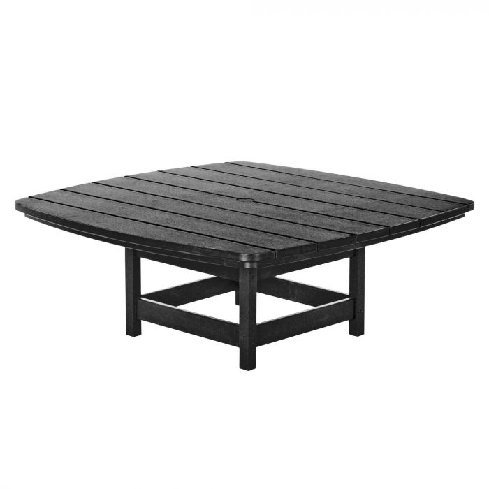 Pawleys Island CVT1BLK Outdoor Conversational Table, 45x45inch, Black