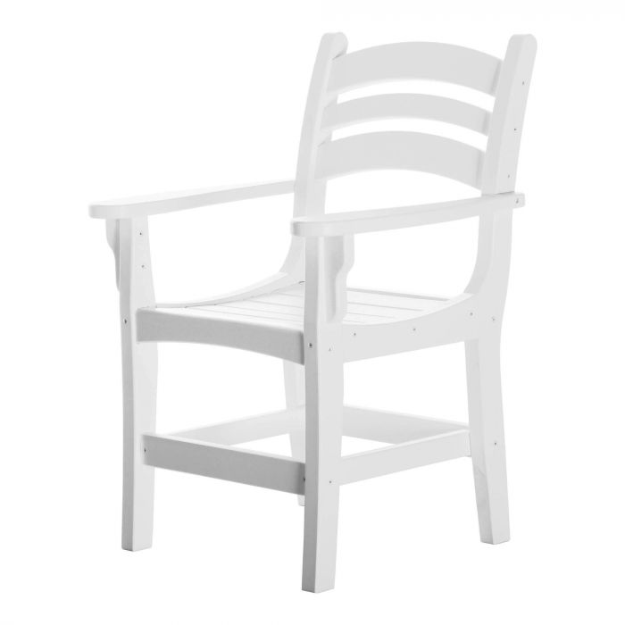 Pawleys Island DCA1WH Casual Dining Chair with Arms, White