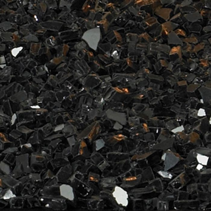 White Mountain Hearth DG1BKP Black Polished Decorative Crushed Glass, 2.5-Pounds