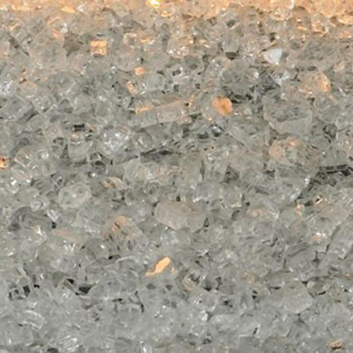 White Mountain Hearth DG1CLF Clear Frost Decorative Crushed Glass, 2.5-Pounds