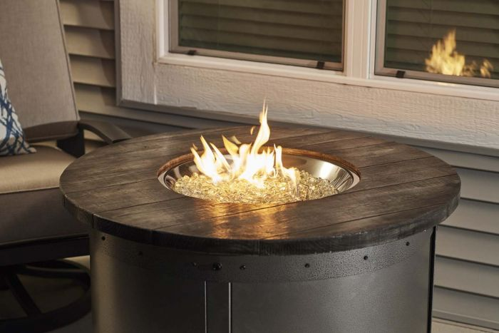 The Outdoor GreatRoom Company SF-32-GREY-K Stonefire Gas Fire Table 32-Inch, Grey
