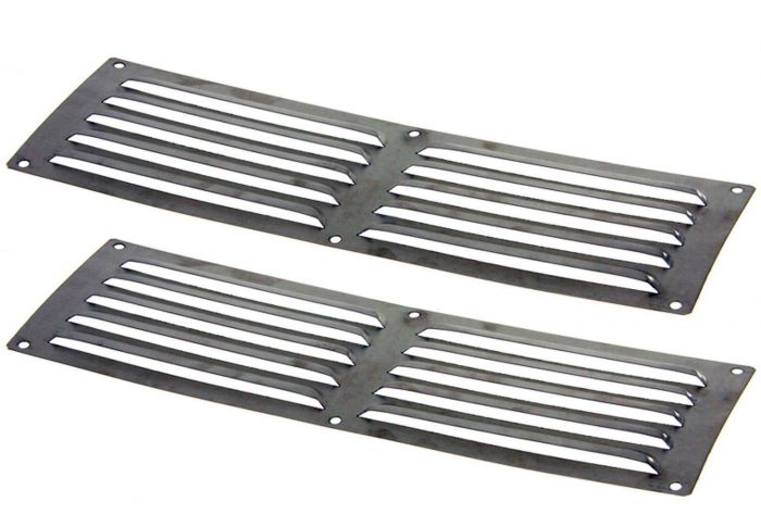 Hearth Products Controls Louvered 14x4.5 Inch Stainless Steel Enclosure Vents, Set of 2