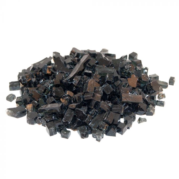 Real Fyre GL-10-B Black Fire Glass, 10 Pounds