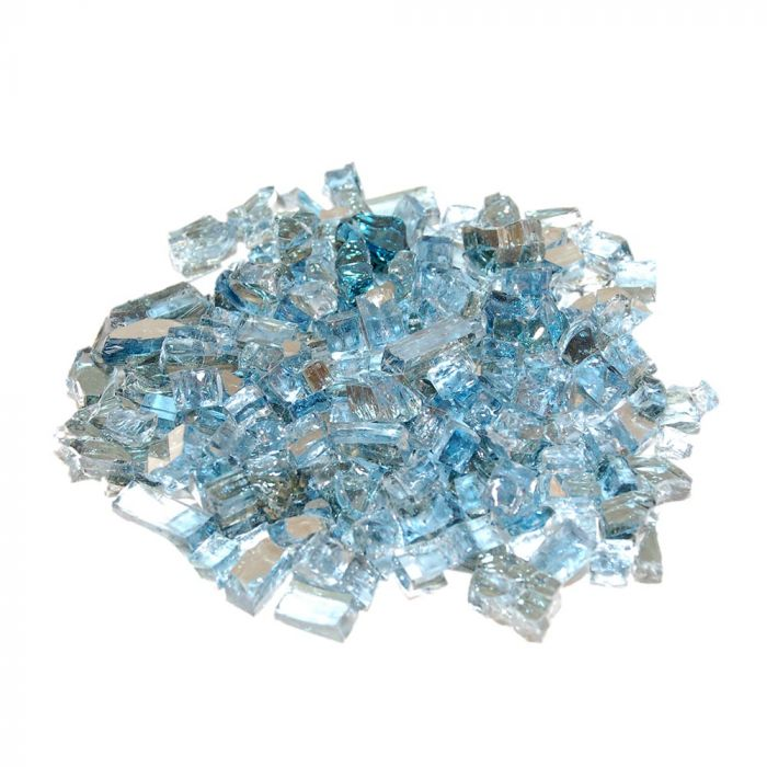 Real Fyre GL-10-NR Caribbean Blue Reflective Fire Glass, 10 Pounds