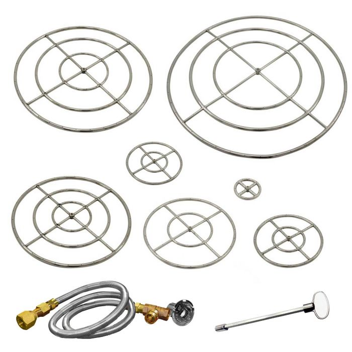 Firegear FG-FRSS Stainless Steel Gas Fire Pit Burner Ring Kit