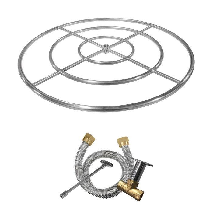 Firegear FG-FRSS-K Stainless Steel Gas Fire Pit Burner Ring Kit