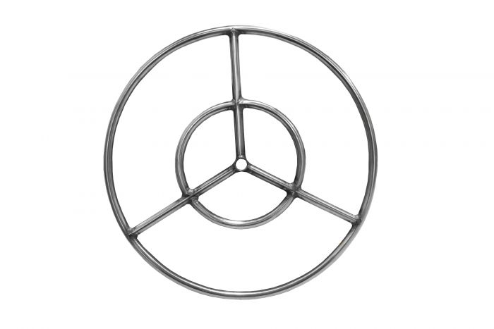 Firegear FG-FR-24S-R Stainless Steel Gas Fire Pit Burner Ring, Natural Gas, 24-inches