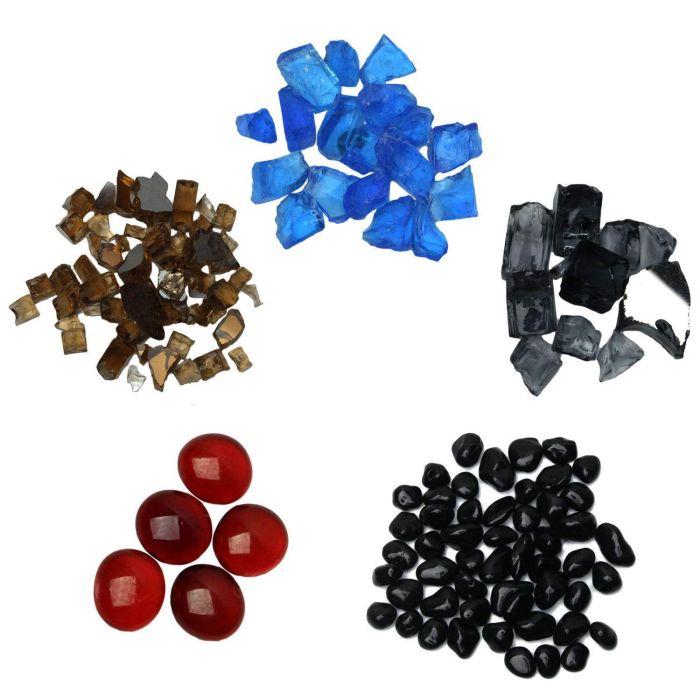 Choose 5 American Fireglass Fire Glass Samples