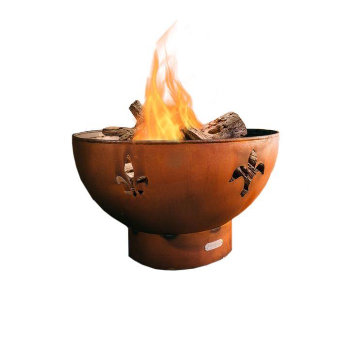 Fire Pit Art Fleur De Lis Wood Fire Pit