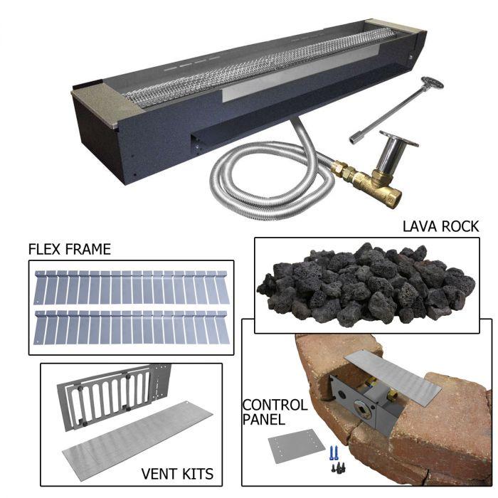Firegear FPB-30-PK Linear Gas Fire Pit Burner Kit for Paver Blocks