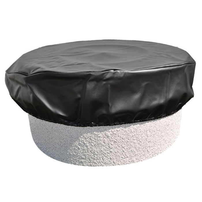 Hearth Products Controls Round Black Vinyl Fire Pit Cover, 76 Inch