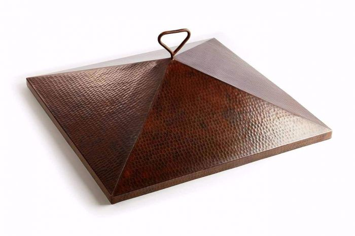 Hearth Products Controls Square Hammered Copper Cover for 36 Inch Sierra Bowl