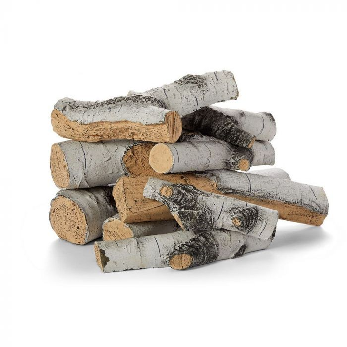 Hearth Products Controls FPL30/36AB16 Aspen Birch Outdoor Ceramic Gas Log Set, 16 Piece