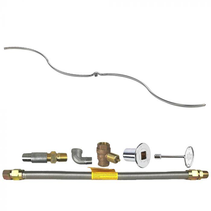 Spotix Rectangle HPC Match Lit Fire Pit S-FIRE Burner Kits