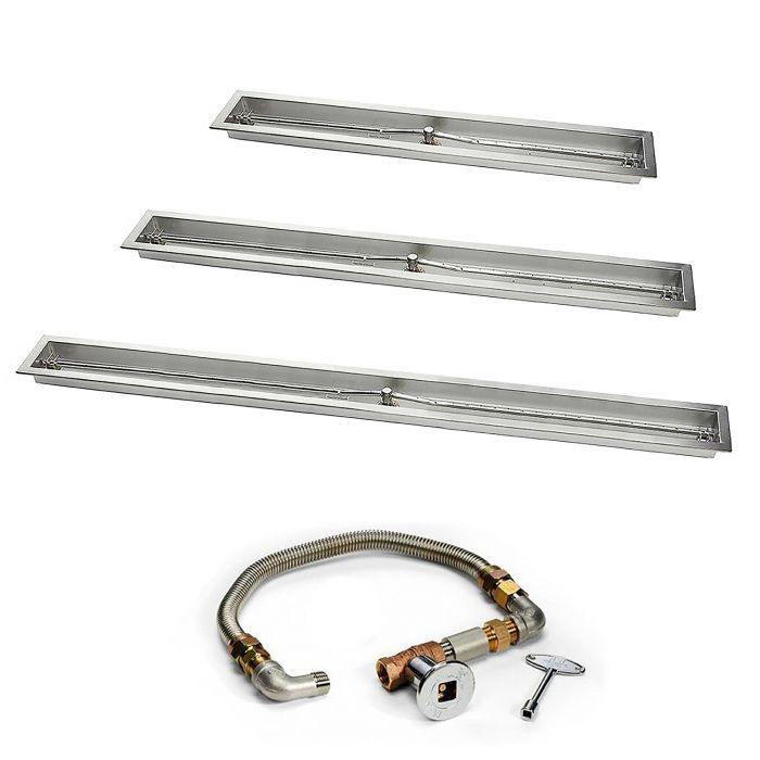Hearth Products Controls FPS Linear Trough Match Light Gas Fire Pit Kit