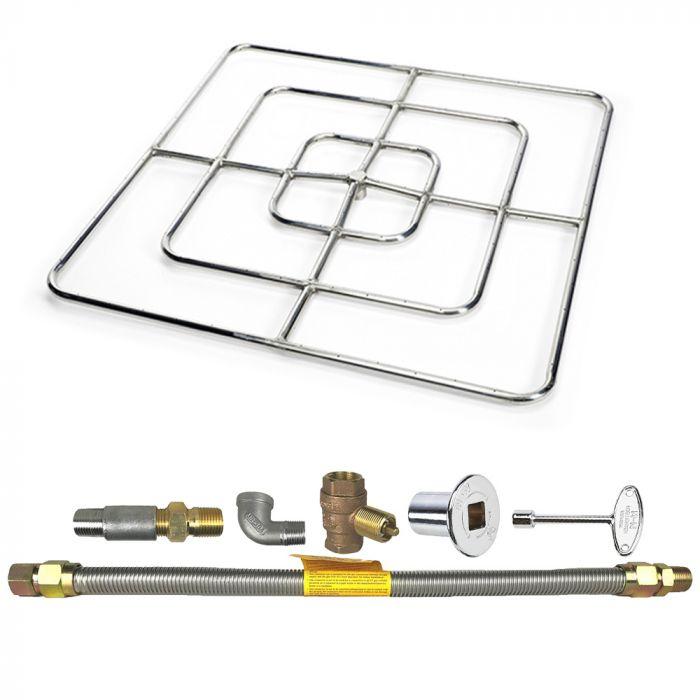 Spotix Square HPC Match Lit Fire Pit Burner Kits