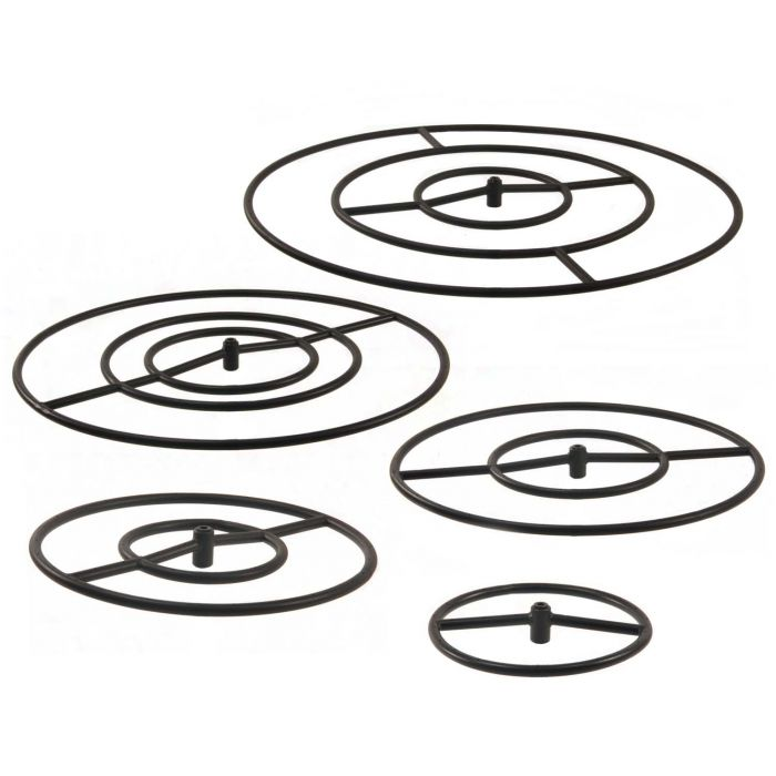Hearth Products Controls Round Black Iron Fire Pit Burners