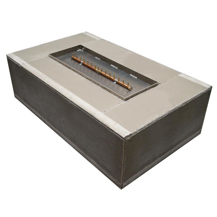 Warming Trends Ready-to-Finish Rectangular Fire Pit Kit, 60x36-Inch