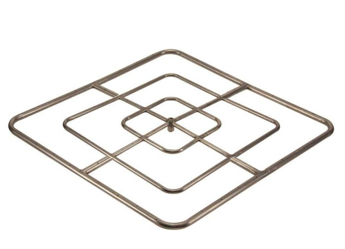 Hearth Products Controls Square Stainless Steel Fire Pit Burner, 48x48-Inch High Capacity, Propane