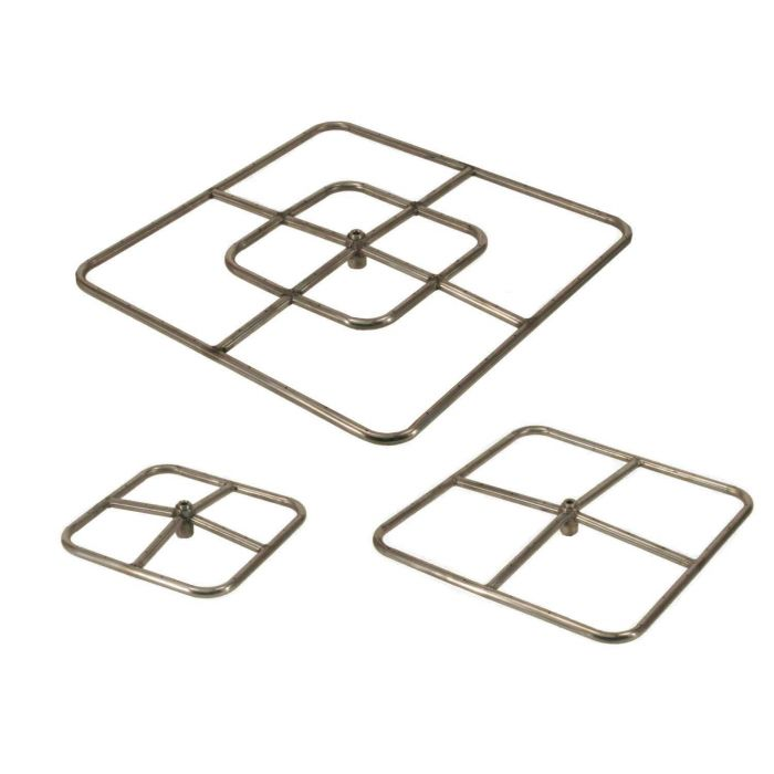 Hearth Products Controls Square Stainless Steel Fire Pit Burners